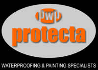 Protecta Waterproofing and Paint - concrete waterproofing l.B.R. corrugated iron waterproofing - waterproofing  roofs - Rust treatment and prevention - Lining reservoirs  - lining earth dams - roofcoatings
