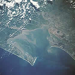 Maputo bay from a satelite image