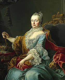 Emperor of Austria's wife, Maria Theresia