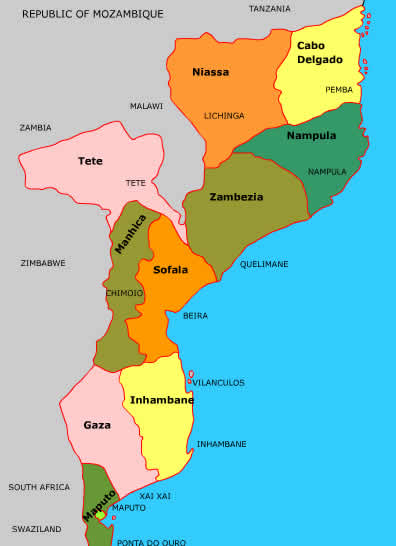 Mozambique maps