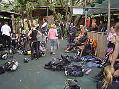 diving preperation scuba adventures Ponto do Ouro