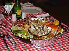 mozambican seafood platter